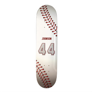 Player Number 44 - Cool Baseball Stitches Custom Skateboard