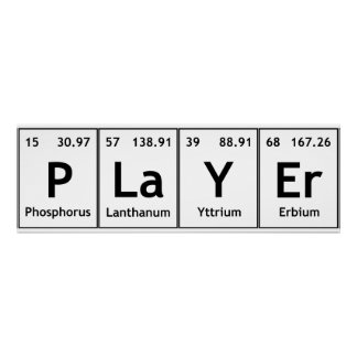 Elements symbols atoms science words gifts t shirts art posters player periodic table elements words chemistry poster urtaz Image collections