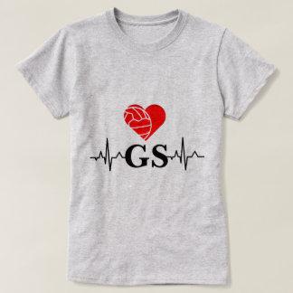 Player Position Heartbeat I Love Netball T-Shirt