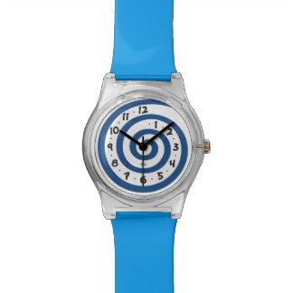 Playful Blue Spiral Watch
