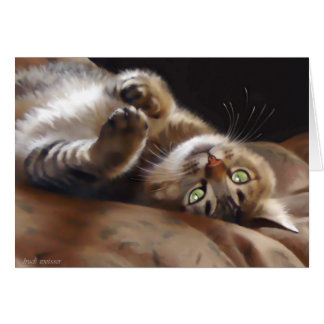 Playful Kitty Note Card