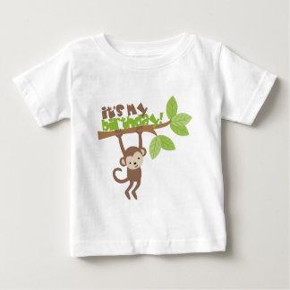Playful Monkey Birthday Baby T-Shirt