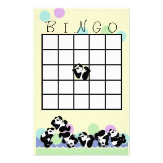 Playful Panda Bingo Stationery