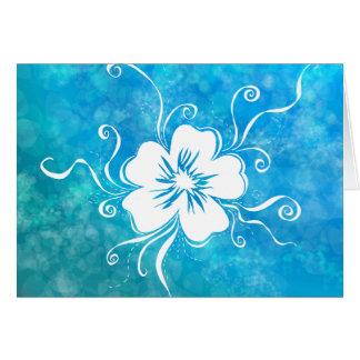 Playful Pansy - reverse aquamarine dreams Card