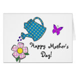 Playful Plaid Flower for Mother Greeting Card