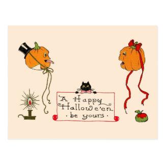 Playful Pumpkin-Heads Postcard