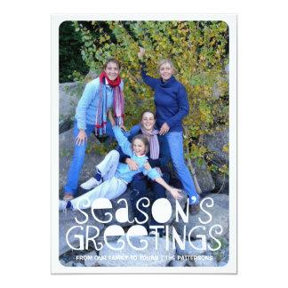 Playful Season's Greetings Big Photo Holiday Card Custom Invite