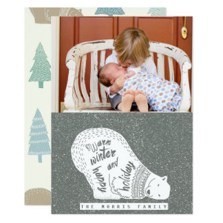 Playful Winter Holiday Photo Card