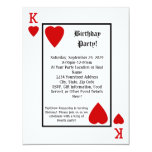 Playing Card King Hearts Birthday Party Invitation 11 Cm X 14 Cm Invitation Card