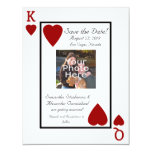 Playing Card King/Queen Photo Save the Date Custom Invitations
