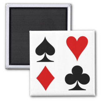 Playing card magnet. square magnet