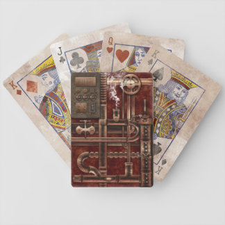 Playing Cards in aged Steampunk Design