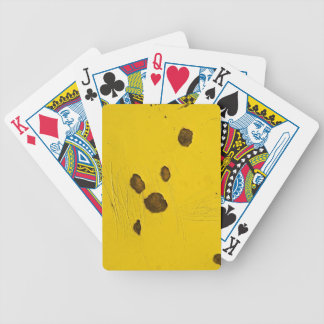 Playing Cards in yellow rusty grunge look