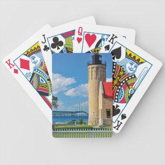 Playing Cards Mackinac Bridge and Lighthouse