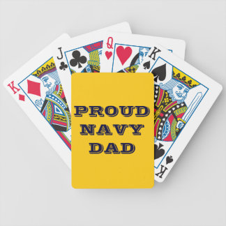 Playing Cards Proud Navy Dad Bicycle Playing Cards