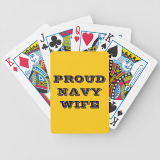 Playing Cards Proud Navy Wife Bicycle Playing Cards