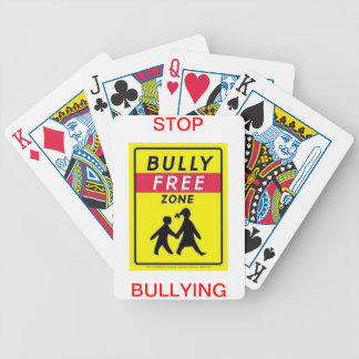 Playing Cards with stop bullying on them