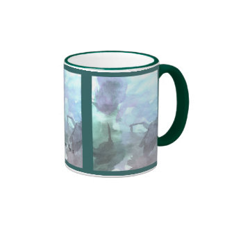 Playing with Watercolors 1 by Colton Hunt Ringer Mug