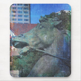 Plaza Horse Fountain Details Mouse Pad