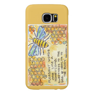 Pleasant Words Honeycomb Samsung Galaxy S6 Cases