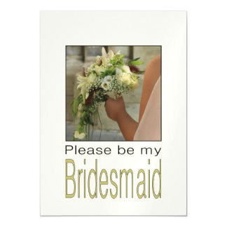 Please be my Bridesmaid? Magnetic Invitations