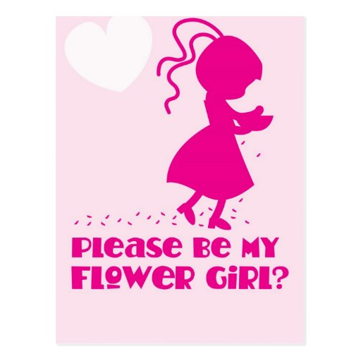 Please be my Flower Girl Greeting card Post Cards