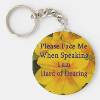 Please Face Me Keychain