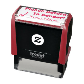 """Please Return To Sender!"", ""Wrong Address"" Self-inking Stamp"