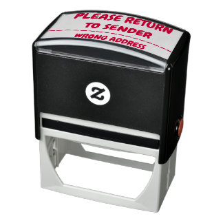 """PLEASE RETURN TO SENDER"" ""WRONG ADDRESS"" SELF-INKING STAMP"