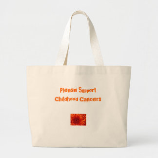 Please Support Childhood Cancers Tote Jumbo Tote Bag