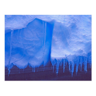 Pleneau Iceberg Graveyard, Antarctica: Blue Postcard