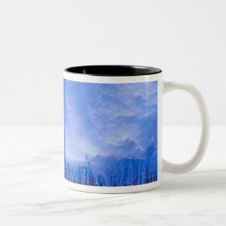 Pleneau Iceberg Graveyard, Antarctica: Blue Two-Tone Coffee Mug