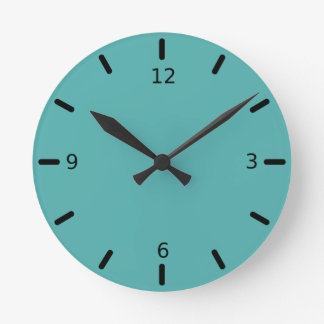 Plentifully Wealthy Turquoise Blue Color Wall Clocks