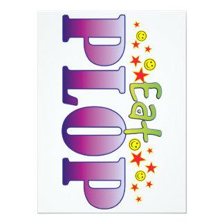 Plop Eat 14 Cm X 19 Cm Invitation Card