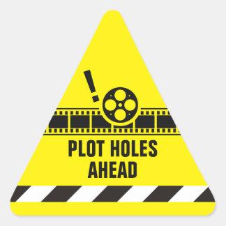Plot Hole Warning! Triangle Sticker