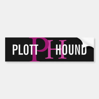 Plott Hound Breed Monogram Bumper Sticker