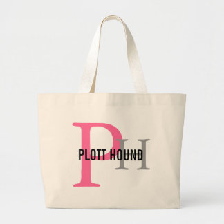 Plott Hound Breed Monogram Large Tote Bag