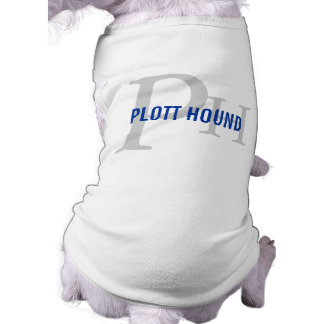 Plott Hound Breed Monogram Sleeveless Dog Shirt
