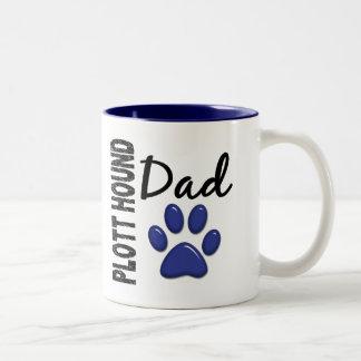 Plott Hound Dad 2 Two-Tone Coffee Mug