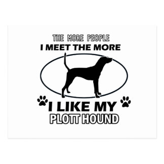 Plott Hound designs and gifts Postcard