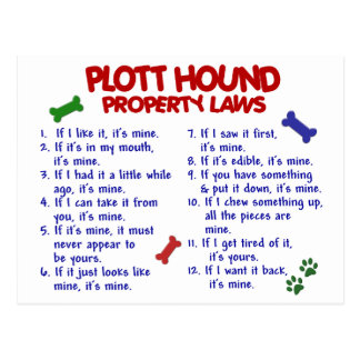 PLOTT HOUND Property Laws 2 Postcard