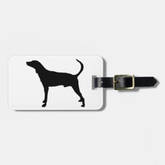 plott hound silhouette luggage tag