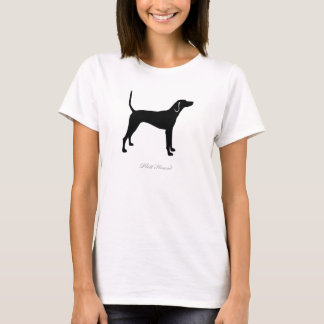 Plott Hound T-shirt (black silhouette)