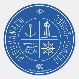 Ploumanach Perros-Guirec Round Sticker