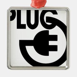 plug christmas ornament