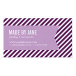 Plum and Lilac Purple Modern Stripes and Ribbon