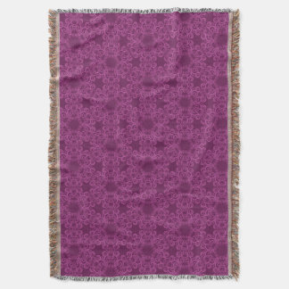 Plum Arabesque Pattern Throw Blanket