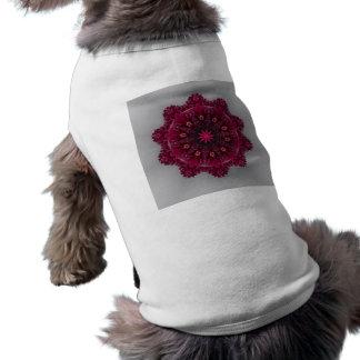 Plum Flower  Doggie Ribbed Tank Top