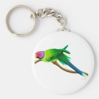 Plum Headed Parakeet Keychain