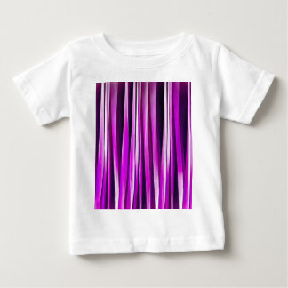 Plum Purple and and Burgundy Stripy Lines Pattern Baby T-Shirt